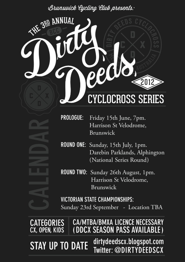 2012 Dirty Deeds Flyer
